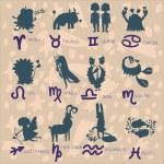 Постер, плакат: Astrology zodiac signs
