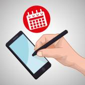 Smartphone concept with icon design vector illustration 10 eps graphic