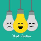 Think positive design vector illustration eps 10