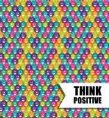 Think positive design vector illustration eps 10