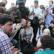 Постер, плакат: Politician Leonid Volkov at the rally in support of Navalny