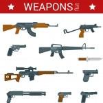 Постер, плакат: Flat design weapons icon set