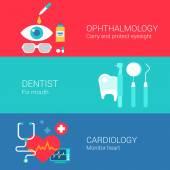 Medical concept flat icons set