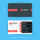 Vector modern creative and clean business card template Flat design