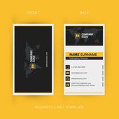 Vektor modern kreatív és tiszta névjegykártya sablon. lapos kivitel
