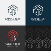 Thin Line Design Template Logotype Cube maze