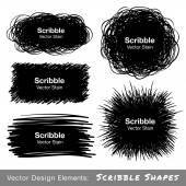 Satz von handgezeichneten Skizze Formen
