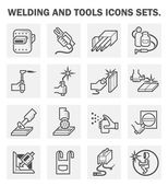 Welding and tools icons sets