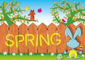 Four seasons, spring