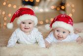 Roztomilé dítě chlapce v Santa hat