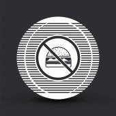 Log forbidden food Prohibitory sign Hamburger icon Sandwich icon Flat design style Made vector illustration
