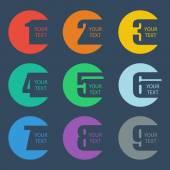 Color numbers set Design vector illustration