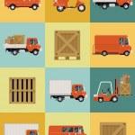 Постер, плакат: Fleet vehicles icons