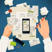 Kreativní papír uživatelského rozhraní prototypování