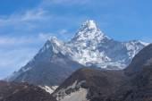 Ama Dablam vrchol hory od vesnice Pangboche