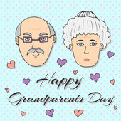 Happy Grandparents day! Greeting card Vector illustration