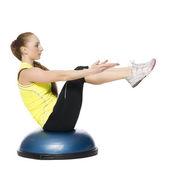 Fitness dívka dělat pilates