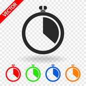 Stopwatch icon vector illustration Flat design style