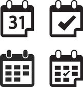Calendar icon set vector illustration Flat design style
