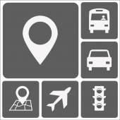 Set transportation  icons vector flat design
