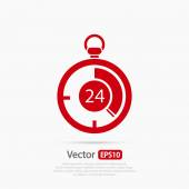 Stopwatch icon vector illustration Flat design style