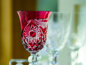 Krásný domov dekorativní prvky vyrobeny z křišťálového skla