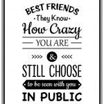 Постер, плакат: Friendship quote Typographical Poster