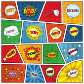 Set of comic sound effects Vector EPS10 illustration