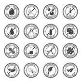 Allergen icons vector set.