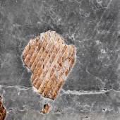 Staré poškozené ročník zničit zeď s prasklin, škrábanců, woo