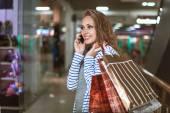 Módní nákupní dívka portrét