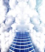 Stairway to Heaven vector art illustration of Paradise