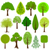 Cartoon Trees clip art on white background