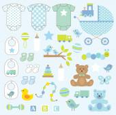 Baby Boy Clip Art cute vector set