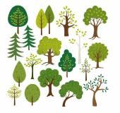 Different vector Trees clip art