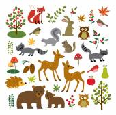 Woodland clip art - vector