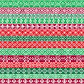 Ozdobený vánoční hraniční vzory