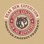 Постер, плакат: Bear Den Expidition T shirt graphics
