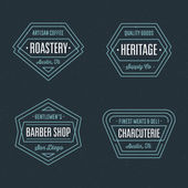 Set of retro geometric badge logos design templates with vintage feeling for wide variety of businesses