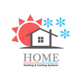 Heizung  Cooling Systeme Business-Symbol-template