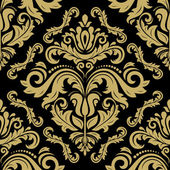 Oriental vector fine classic pattern Seamless black and golden background