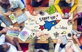 Lidé a spuštění podnikatelský koncept