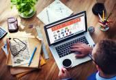 Člověk dělá prodej Online Marketing e-commerce