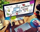 Reaktionsschnelle Design-Internet-Konzept