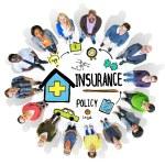 Постер, плакат: People around the Insurance Policy Concept