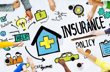 Постер, плакат: Insurance Policy Concept, холст на подрамнике