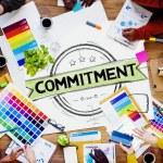 Постер, плакат: Commitment Devotion Dedication Concept
