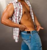 Male figure, nude male figure