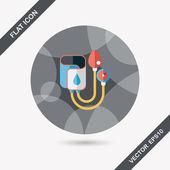 Vérnyomásmérő lapos ikon hosszú árnyéka