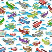 Airplane pattern on a white background